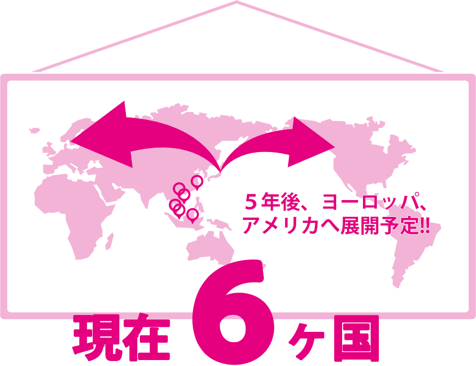 海外展開国数